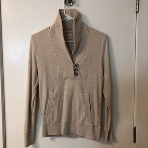Button front oatmeal sweatshirt